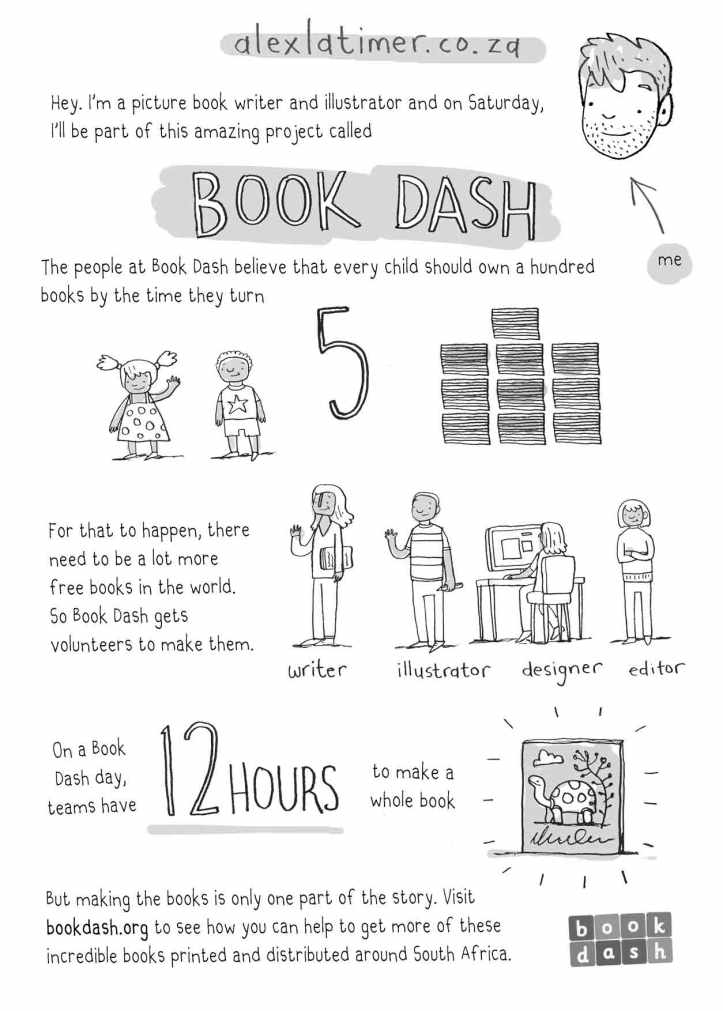 Alex Latimer Book Dash graphic